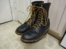 RED WING FIRE FIGHTER LOGGER BOOTS MADE IN USA 8.5 E