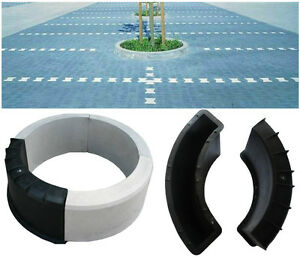 CONCRETE ROUND EDGING PLANT FLOWER POT PAVING GARDEN SLAB FLOOR TILE MOULD