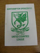 05/10/1985 Northampton Spencer v Desborough Town  (Excellent Condition)