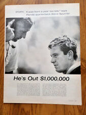 1966 Photo Article Ad Football Florida Quarterback Steve Spurrier