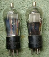 Lot of 2 Vintage CUNNINGHAM C324 (24A) Vacuum TUBES Both Test 99% STRONG TUBES