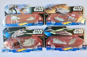 Star Wars Hot Wheels Die-Cast 4-Box Collection (8 Figures Total) Display Toys