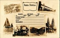 RPPC 1910. RADIO STATION, MULTI VIEWS. LOS ANGELES COUNTY, CA.   POSTCARD.