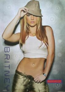 Britney Spears Original 2003 Poster 24 x 34  Britney Spears Sexy Pose With Tank