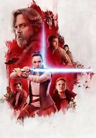 STAR WARS THE LAST JEDI TEXTLESS POSTER A4 A3 A2 A1 CINEMA MOVIE LARGE FORMAT #2