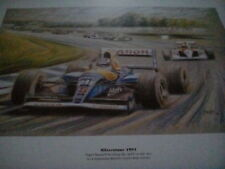 Nigel Mansell 1991 Silverstone British GP Formula 1 Print F1 Motor Racing