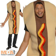 Giant Hot Dog Adults Food Fancy Dress Mens Ladies Fun Stag Costume Outfit New