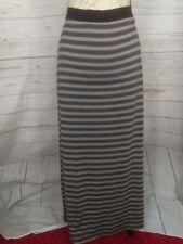 Ann Taylor Loft Womens Skirt Size Large Floor Length Striped Grey/ Blue B1/341