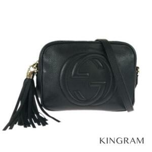 GUCCI Soho Small Disco Bag with Fringe Tassel 308364 black Cross Body from Japan