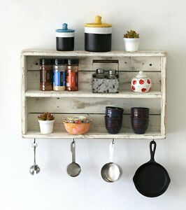 Rustic Double Wall Shelf