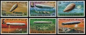Mauretanien 1976 - Mi-Nr. 539-544 B ** - MNH - ungez. / imp - Zeppelin