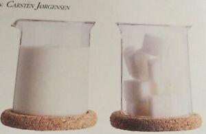 BODUM Vintage RETRO 199O  cork  Bistro  Creamer/ milk jug and sugar with spoon