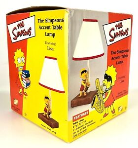 The Simpsons Accent Side Table Lamp Featuring Lisa TV Show Cartoon Licsensed '02