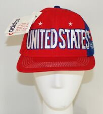 Adidas NOS New WORLD CUP 94 United States Snapback Hat Red USA SOCCER NWT 1994