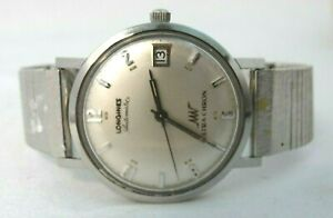 Vintage Longines Automatic Ultra-Chron DATE -JUST Swiss Watch -Runs Well