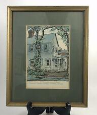 2 Leonora Quarterman Prints Savannah Georgia, Pirate's House & Forsyth Fountain