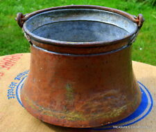 antique huge Copper French, early 19th century cauldron fireside bucket