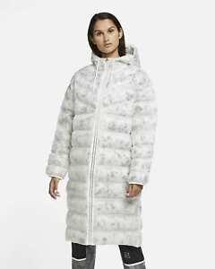 Nike Sportswear Marble EcoDown White Women's Parka CZ1909 121 Size L