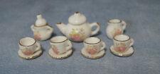 1:12 Set da tè a Fiori Scala Casa delle Bambole in Miniatura in Ceramica Tè Set D2186