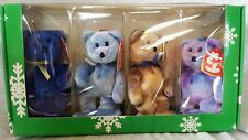 Ty Beanie Babies-The Jingle Beanie Collection-Clubby I, Ii, Iii, Iv-Ornament-Nib