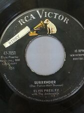 """ELVIS PRESLEY 45 RPM """"Surrender"""" & """"Lonely Man"""" G+ to VG- condition"""