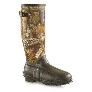 New Guide Gear Men's 15 in Insulated Rubber Boots, 1,200-g Thinsulate Realtree
