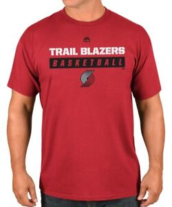 Portland Trail Blazers Majestic NBA Proven Pastime 2 Short Sleeve Men's T-Shirt