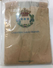 R&H Cashmere/ Cotton Blend Thermal  Underwear Lady Beige Long Pants Italy!