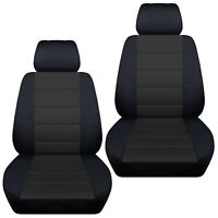 Fits 2015-2019 Toyota Hilux  front BUCKETS , car seat covers black-charcoal