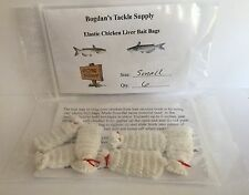 BTS Elastic Chicken Liver Bait Bags. Catfish Bait. Secured Bait, Size Small, 6pk