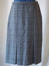 Plaids & Checks Pleated 100% Wool Skirts for Women