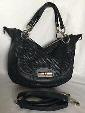 Large COACH Black Leather Tote/Cross BodyShoulder Bag / Handbag
