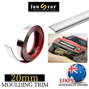 Chrome Molding Trim Cover Strip Cars Auto Ute Body Side Decoration&Guard 5Mx20mm