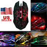 LED Backlight Wired 4000 DPI Gaming Mouse Optical Ergonomic Game Mice For Gamer