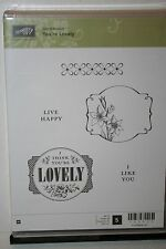 e RETIRED STAMPIN UP YOU'RE LOVELY 5 PC SOME STAINING