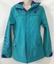 Neff Soft Shell Medium Snowboarding Ski Jacket Turquoise & Purple