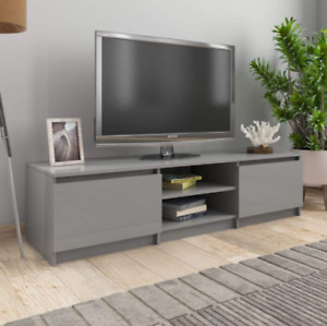 home living room grey sturdy TV cabinet stand storing compartment premium board