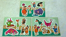 New Zealand Rare Flintstones 3x Sticker sheets Lot Quik Stik International c1966
