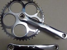 44T Single speed Chainset Chrome Steel Crank Crankset Vintage retro look >>44t<<