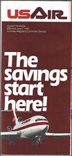 USAir system timetable 6/1/81 Buy 2 Get 1 Free