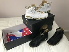 2012 Nike Air Jordan 6/7 Retro GMP SZ 9 Golden Moment Pack Olympic DMP