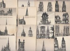 Lot 35 early France postcards french cathedrals architecture