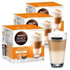 Nescafé Dolce Gusto Caramel Latte Macchiato (Pack of 3 Total 48 Capsules,)