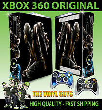 XBOX 360 ORIGINALE MORTAL KOMBAT x SCORPION ADESIVO SKIN e 2 SKIN PER PAD