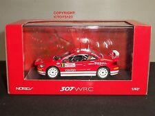 NOREV 473793 PEUGEOT 307 WRC MONTE CARLO RALLY 2005 RED DIECAST MODEL CAR