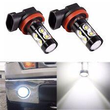 2x H11/H8 50W LED Nebelschluss Fahren Auto Kopf Licht Lampen Birne Weiß 6000K