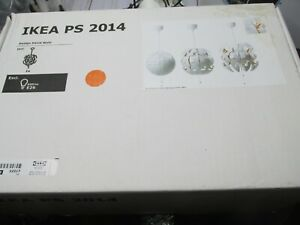 "IKEA PS 2014 Ceiling Pendant Lamp 14"" White +  Orange Contemporary Modern"