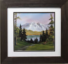 "Bob Ross ""Pathway in April"" Happy Trees CUSTOM FRAMED ART Nature  Print Mountain"