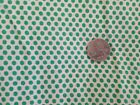 Vintage 1930s 40s Feed Flour Sack Uncut White Green Polka Dots