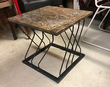 Marble Top Dining Table with Iron Cast Base